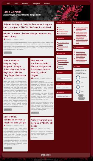 website percobaan pasca